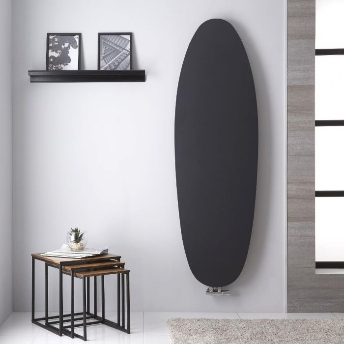 Design Heizkörper MIttelanschluss Vertikal Anthrazit 1728mm x 535mm 896W - Sovana