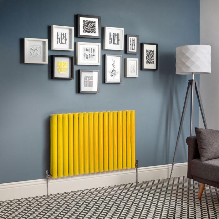 Design Heizkörper Horizontal Doppellagig Gelb - Revive - Größe wählbar