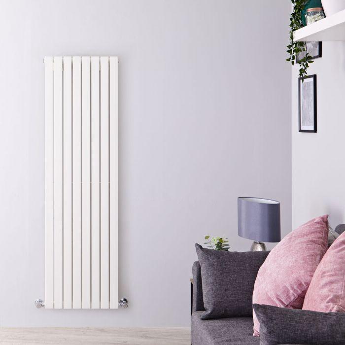 Design Heizkörper Vertikal Weiß 1600mm x 472mm 1149W (einlagig) - Sloane