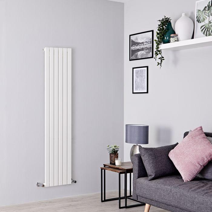 Design Heizkörper Vertikal Weiß 1600mm x 354mm 861W (einlagig) - Sloane