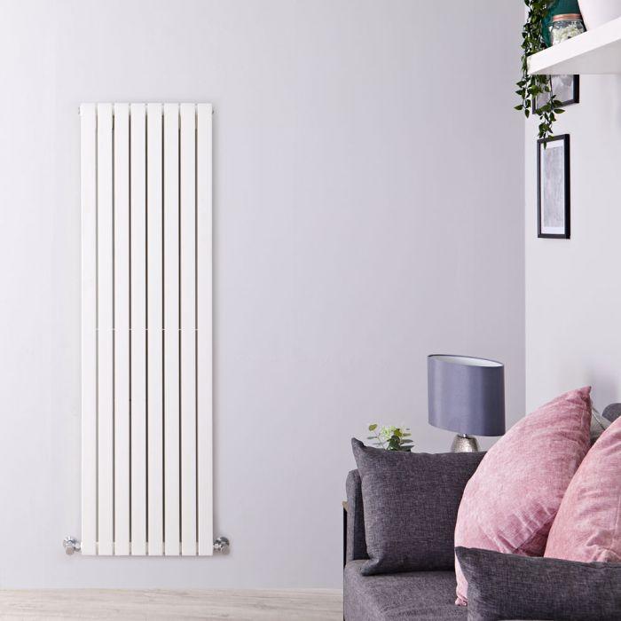 Design Heizkörper Vertikal Weiß 1600mm x 472mm 1590W (doppellagig) - Sloane
