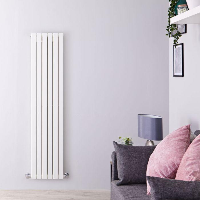 Design Heizkörper Vertikal Weiß 1600mm x 354mm 1193W (doppellagig) - Sloane