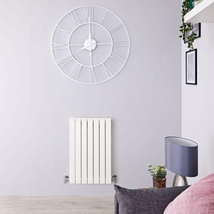 Design Heizkörper Horizontal Weiß 635mm x 420mm 420W (einlagig) - Sloane