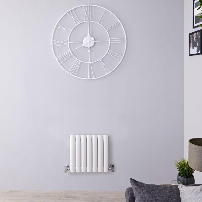 Design Heizkörper Horizontal Weiß 400mm x 413mm 284W (einlagig) - Revive