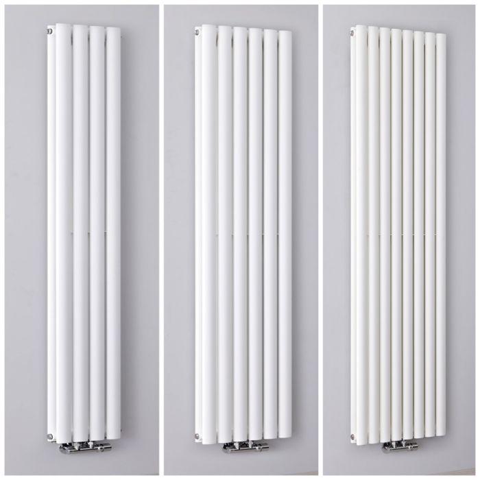 Design Heizkörper Mittelanschluss Vertikal Weiß, Alle Größen - Revive Caldae