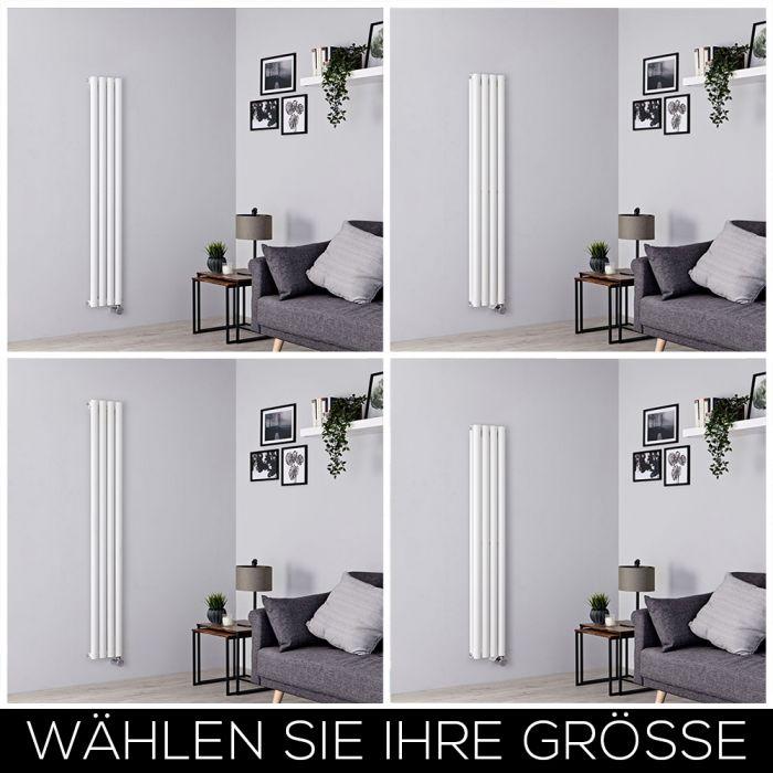 Elektrischer Design Heizkörper Vertikal B236mm Weiß inkl. Heizelement, Höhe Wählbar - Revive