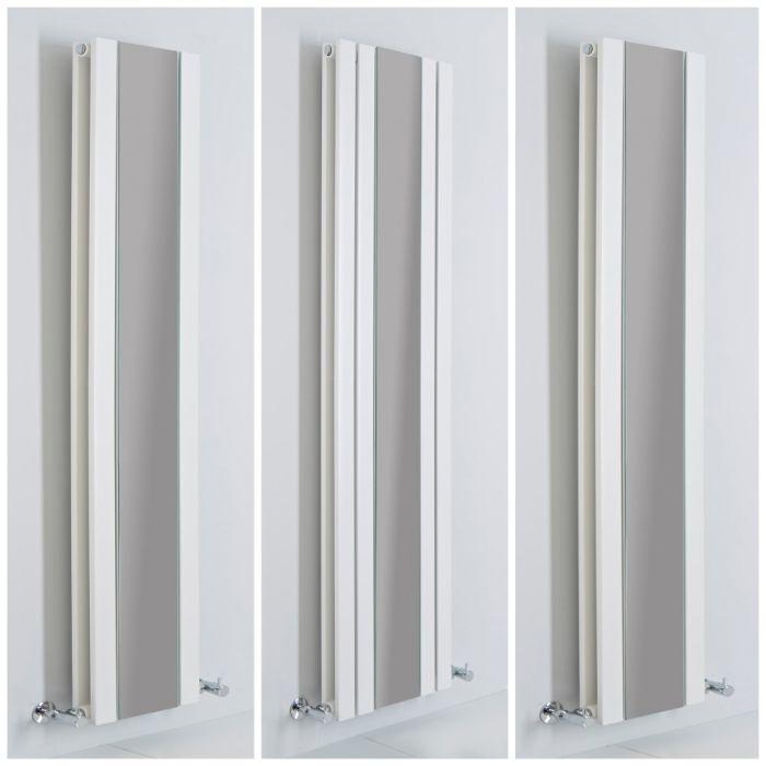 Design Heizkörper mit Spiegel Vertikal Weiß Alle Größen - Sloane