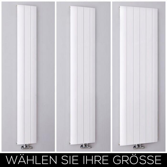 Aluminium Design Heizkörper Vertikal Weiß Alle Größen - Aurora