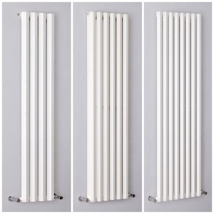 Design Heizkörper Vertikal H1780mm Weiß, Breite wählbar - Vital