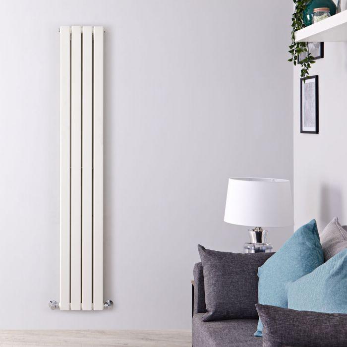 Design Heizkörper Vertikal Weiß 1600mm x 280mm 881W (doppellagig) - Delta