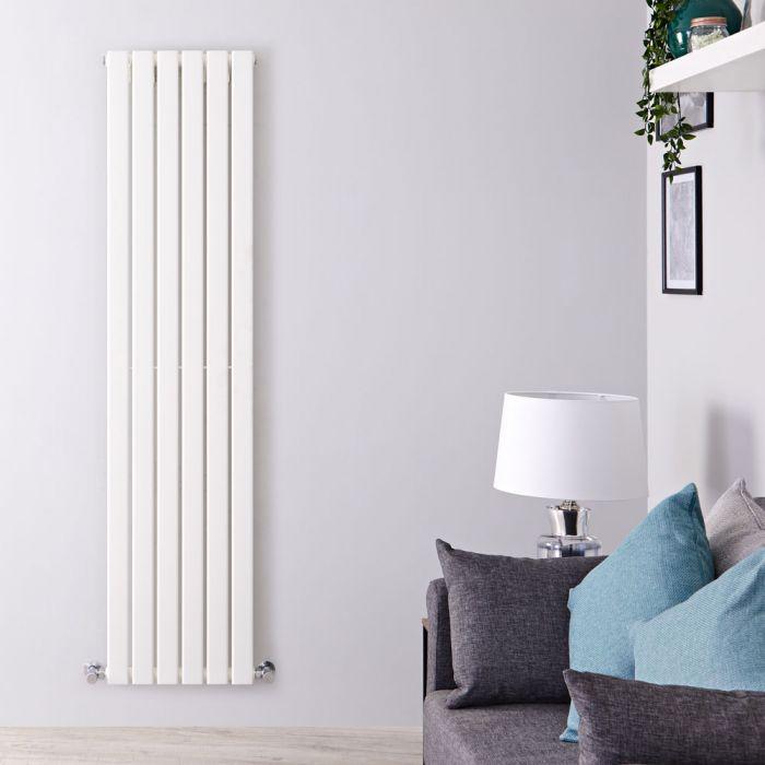 Design Heizkörper Vertikal Weiß 1600mm x 420mm 879W (einlagig) - Delta
