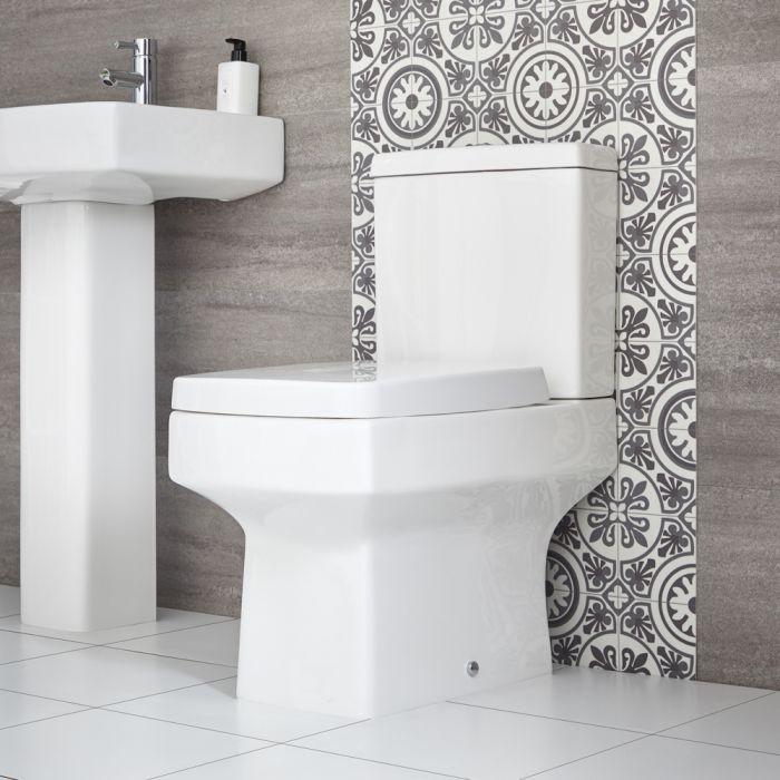 Stand WC mit aufgesetztem Spülkasten inkl. Sitz mit Absenkautomatik - Exton