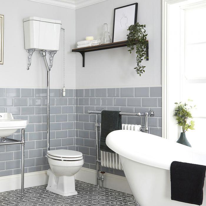 Stand-Tiefspül-WC mit hohem Spülkasten - wählbarer Sitz - Richmond