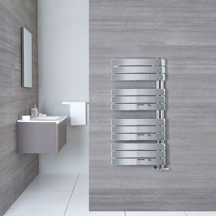 Design Badheizkörper Chrom 1080mm x 550mm 429W – Elgin