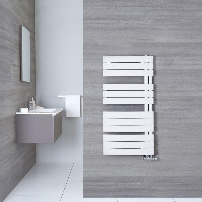 Handtuchheizkörper Gebogen Weiß 1080mm x 550mm 638W - Elgin