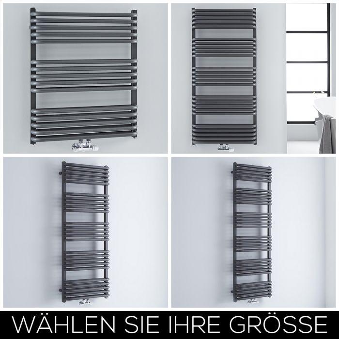 Design Handtuchheizkörper Mittelanschluss Anthrazit Größe Wählbar - Arch
