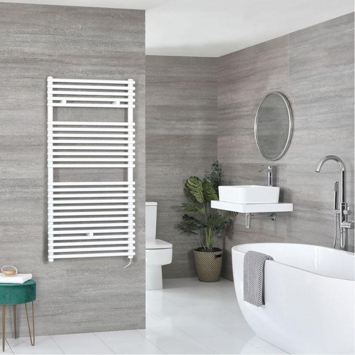 Elektrischer Badheizkörper Weiß 1190mm x 450mm inkl. 600W Heizelement – Arno