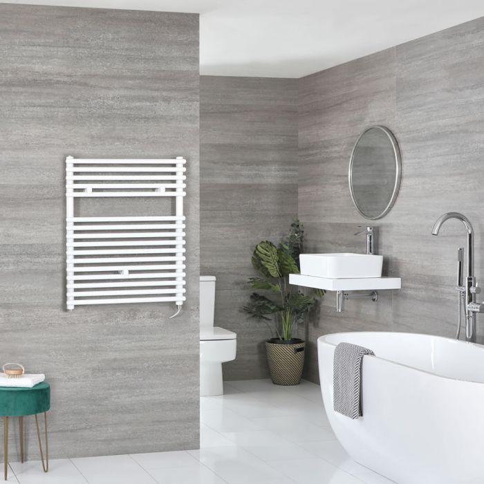 Elektrischer Badheizkörper Weiß 730mm x 600mm inkl. 600W Heizelement – Arno