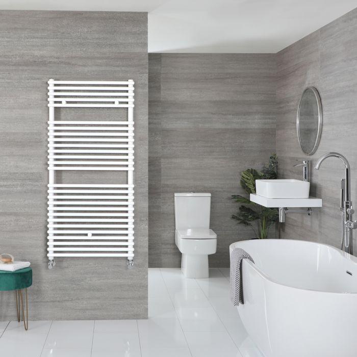 Handtuchheizkörper Weiß 1190mm x 600mm 899W – Arno