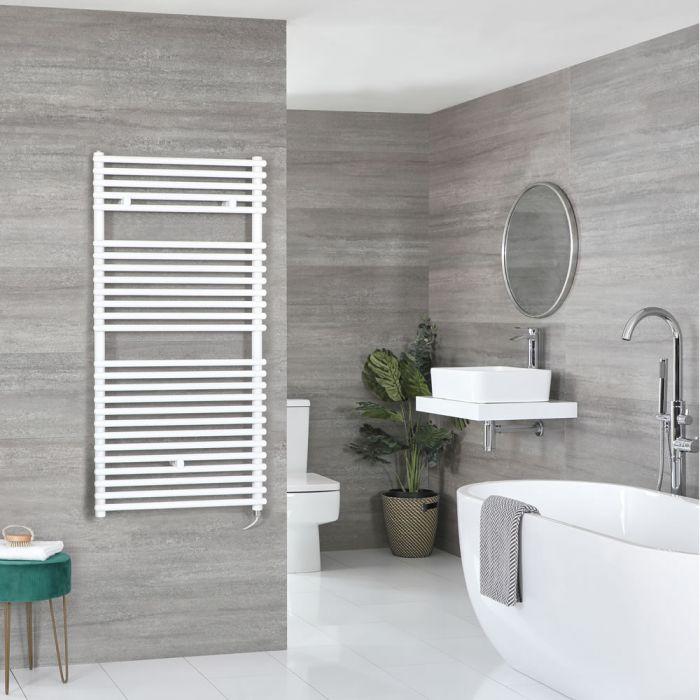 Elektrischer Badheizkörper Weiß 1190mm x 600mm inkl. 800W Heizelement – Arno