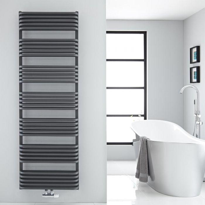 Design Badheizkörper mit Mittelanschluss, Anthrazit 1800mm x 600mm 2010W – Arch