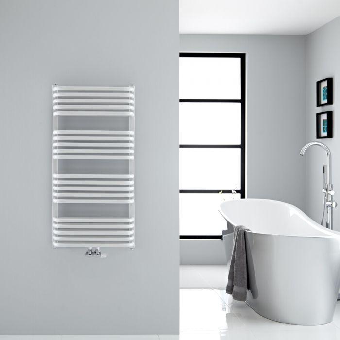 Design Badheizkörper mit Mittelanschluss, Weiß 1000mm x 500mm 986W – Arch