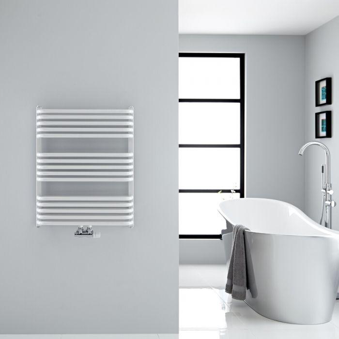 Design Badheizkörper mit Mittelanschluss, Weiß 736mm x 600mm 869W – Arch