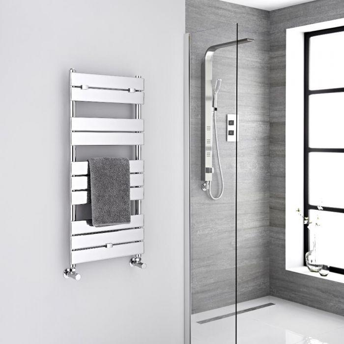 Design Badheizkörper Chrom Flach 1000mm x 450mm 310W – Lustro