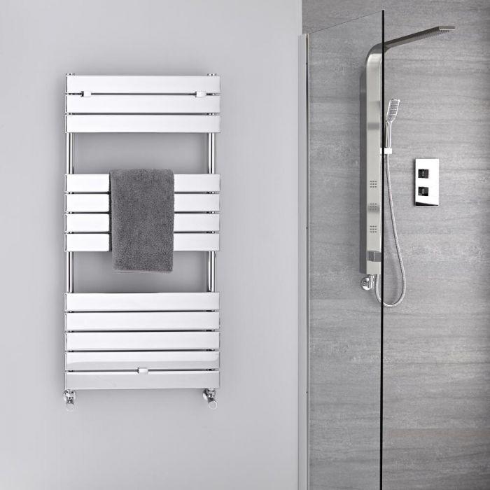 Design Badheizkörper Chrom Flach 1213mm x 600mm 464W – Lustro