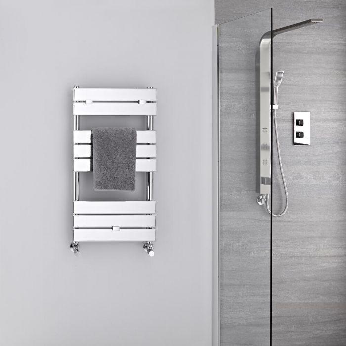 Design Badheizkörper Chrom Flach 840mm x 450mm 250W – Lustro