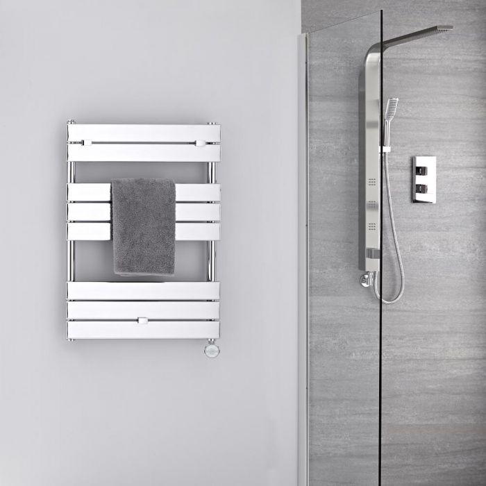 Elektrischer Handtuchheizkörper 840mm x 600mm Chrom - Lustro