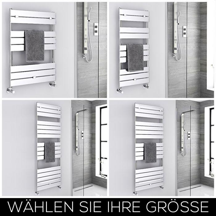 Design Handtuchheizkörper Flach Chrom Größe Wählbar – Lustro