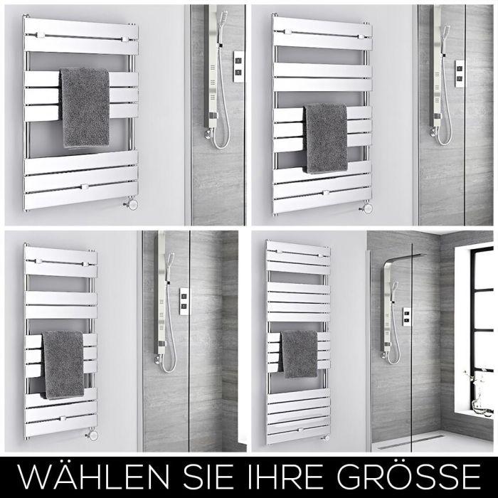 Elektrischer Design Handtuchheizkörper Flach Chrom Größe Wählbar – Lustro