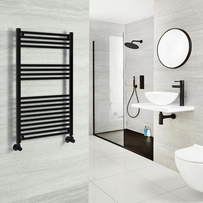 Badheizkörper, Schwarz, Größe und Ventile wählbar - Nox
