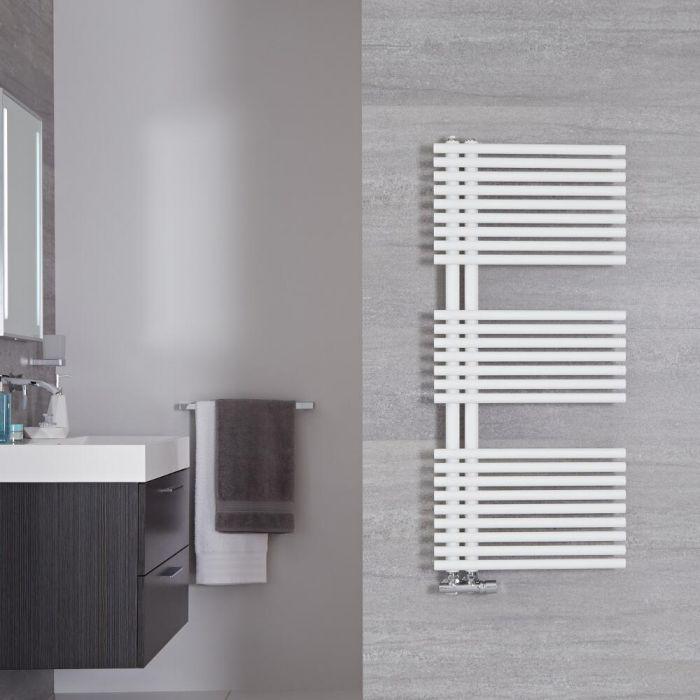 Design Badheizkörper Mineralweiß 1120mm x 500mm 734W – Iseo