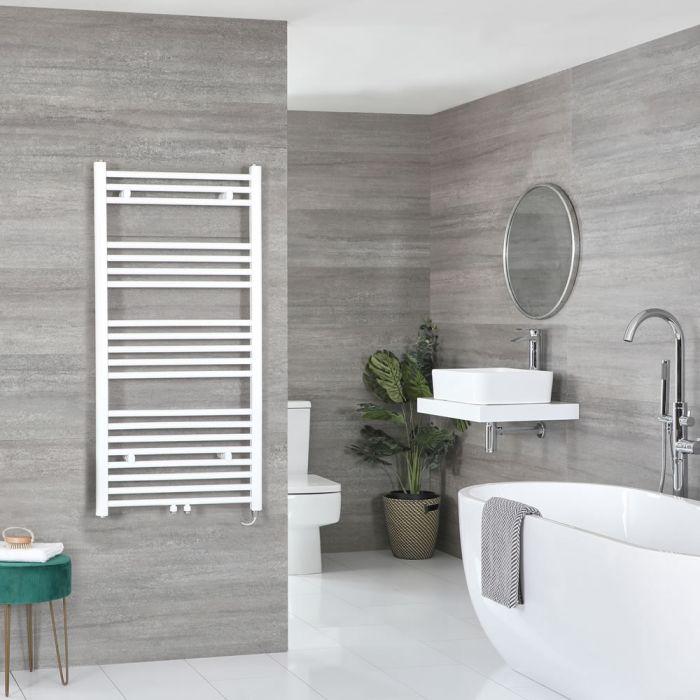Elektrischer Badheizkörper Weiß 1188mm x 500mm inkl. 600W Heizelement – Neva