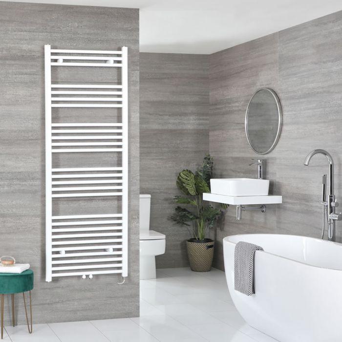 Elektrischer Badheizkörper Weiß 1600mm x 500mm inkl. 800W Heizelement – Neva