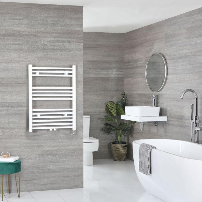 Elektrischer Badheizkörper Weiß 803mm x 500mm inkl. 400W Heizelement – Neva