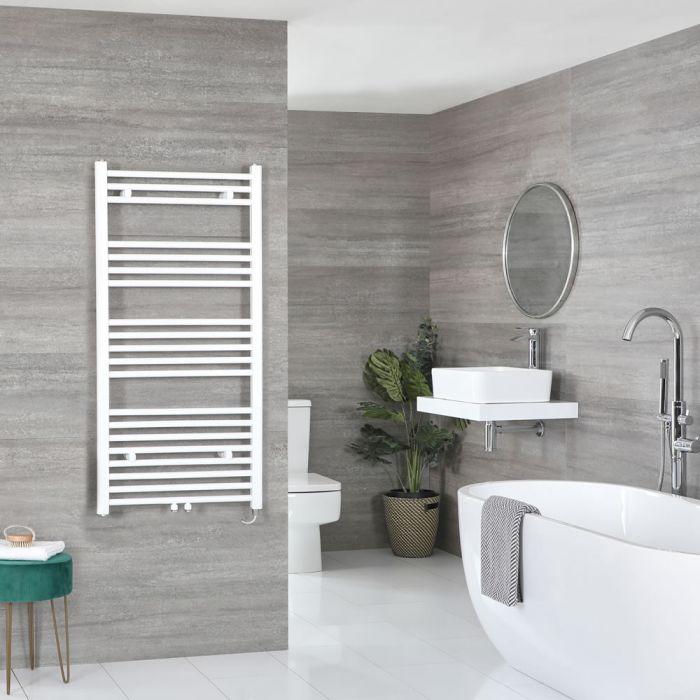 Elektrischer Badheizkörper Weiß 1188mm x 600mm inkl. 600W Heizelement – Neva