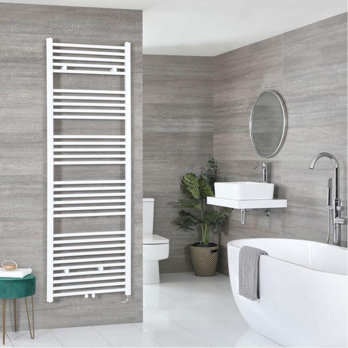 Elektrischer Badheizkörper Weiß 1785mm x 600mm inkl. 1000W Heizelement – Neva