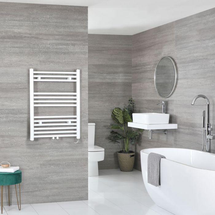 Elektrischer Badheizkörper Weiß 803mm x 600mm inkl. 400W Heizelement – Neva