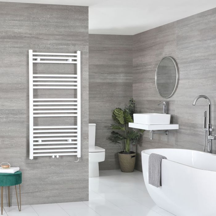 Elektrischer Badheizkörper Weiß Wählbare Größe – Neva
