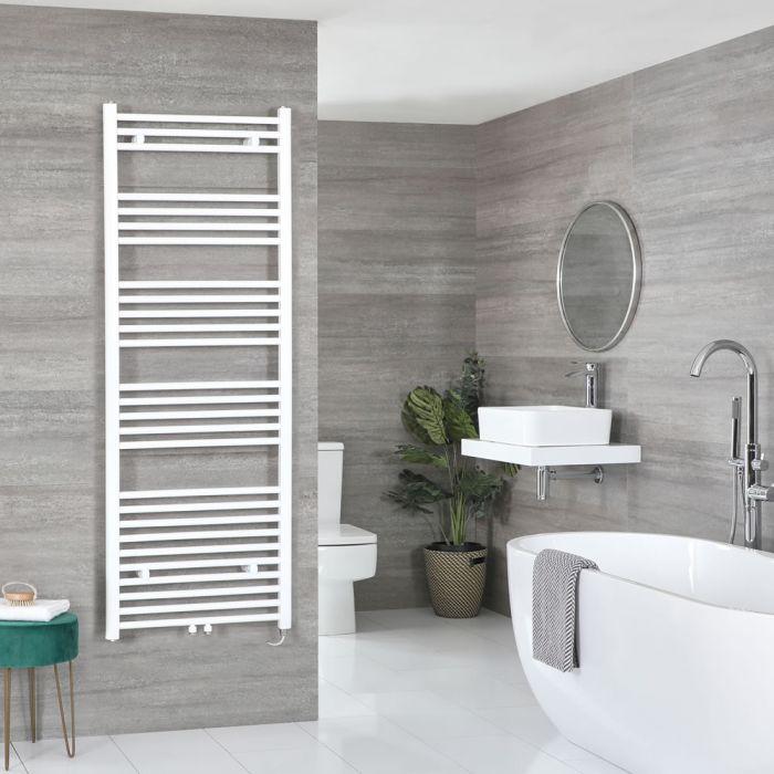 Elektrischer Badheizkörper Weiß 1600mm x 600mm inkl. 1000W Heizelement – Neva