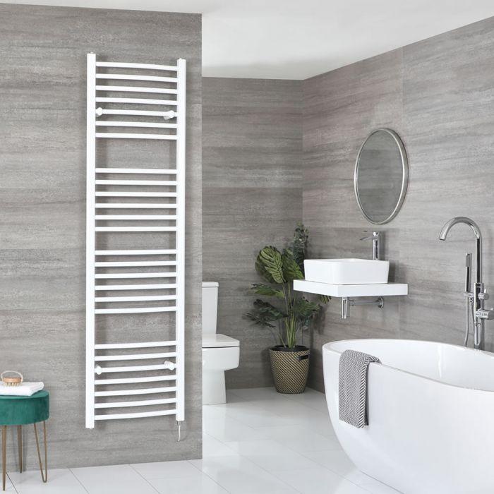 Elektrischer Badheizkörper Weiß Gebogen 1800mm x 500mm inkl. 1000W Heizelement – Ive