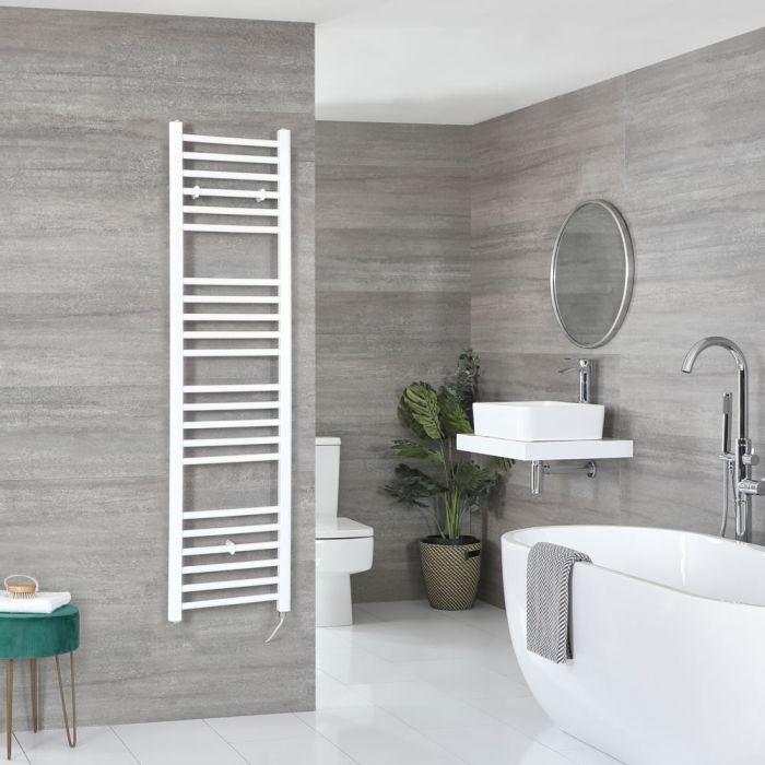 Elektrischer Badheizkörper Weiß Flach 1600mm x 400mm inkl. 600W Heizelement – Ive