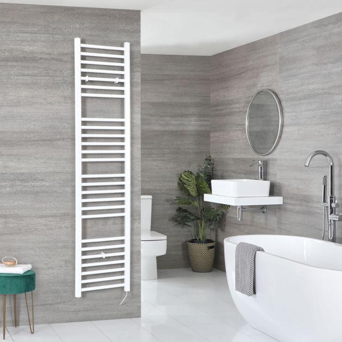 Elektrischer Badheizkörper Weiß Flach 1800mm x 400mm inkl. 800W Heizelement – Ive