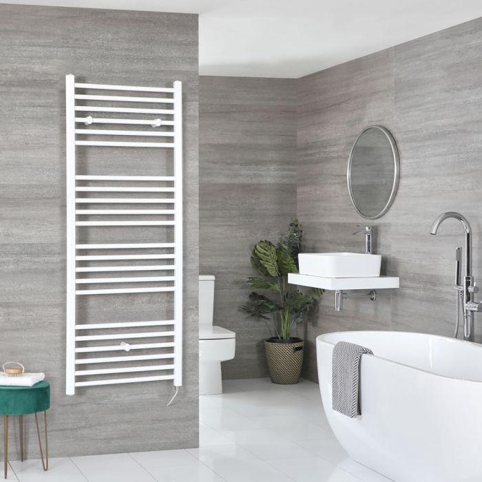 Elektrischer Badheizkörper Weiß Flach 1600mm x 500mm inkl. 800W Heizelement – Ive