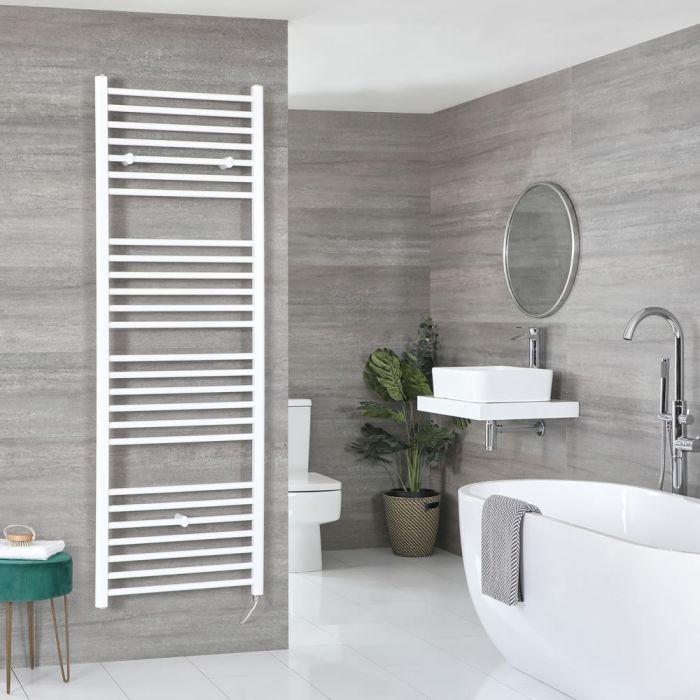 Elektrischer Badheizkörper Weiß Flach 1800mm x 500mm inkl. 1000W Heizelement – Ive
