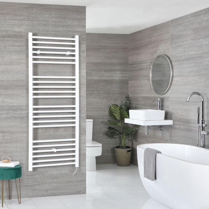 Elektrischer Badheizkörper Weiß Flach 1600mm x 600mm inkl. 800W Heizelement – Ive