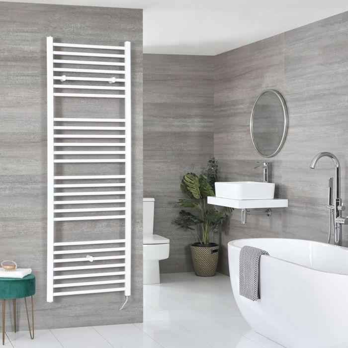 Elektrischer Badheizkörper Weiß Flach 1800mm x 600mm inkl. 1000W Heizelement – Ive